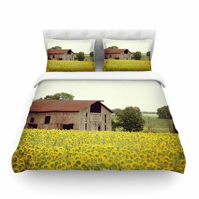 Field of Sunflowers Nature by Angie Turner Featherweight Duvet Cover Size: Twin