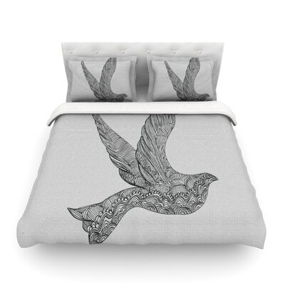 Dove by Belinda Gillies Featherweight Duvet Cover Size: Full/Queen