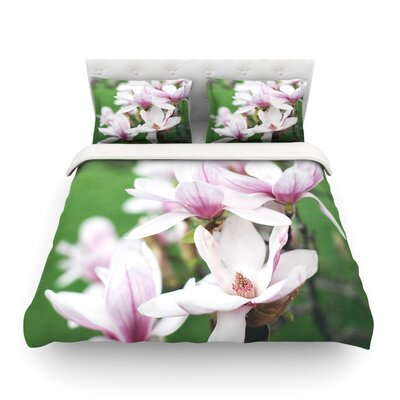 Magnolias by Angie Turner Featherweight Duvet Cover Size: Twin