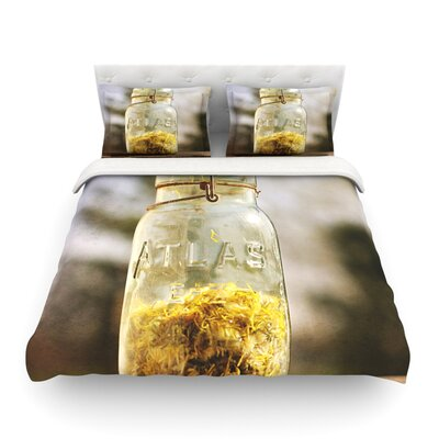 Jar of Sunshine Country by Angie Turner Featherweight Duvet Cover Size: Full/Queen