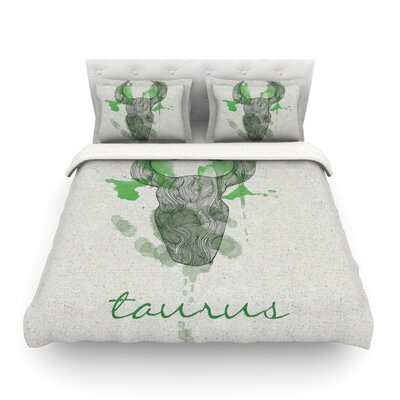 Taurus by Belinda Gillies Featherweight Duvet Cover Size: Full/Queen
