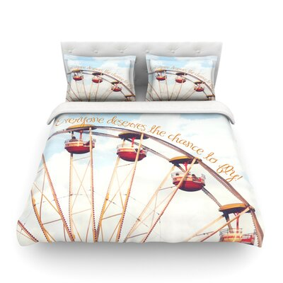 The Chance to Fly Ferris Wheel Featherweight Duvet Cover Size: Full/Queen