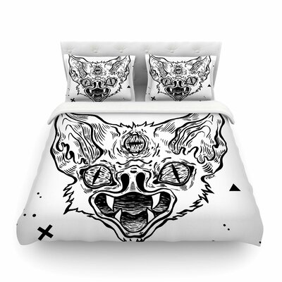 It's Bat by Anya Volk Featherweight Duvet Cover Size: Twin