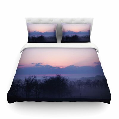 Purple Sunrise by Angie Turner Featherweight Duvet Cover Size: King