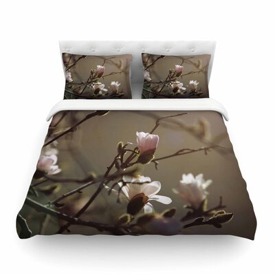 Magnolia Blooms by Angie Turner Featherweight Duvet Cover Size: Full/Queen