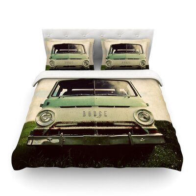 Dodge Green Car by Angie Turner Featherweight Duvet Cover Size: King