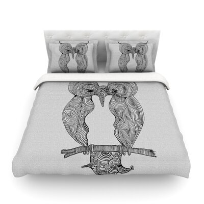 Owl by Belinda Gillies Featherweight Duvet Cover Size: Full/Queen