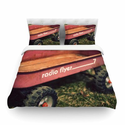 Radio Flyer by Angie Turner Featherweight Duvet Cover Size: Full/Queen