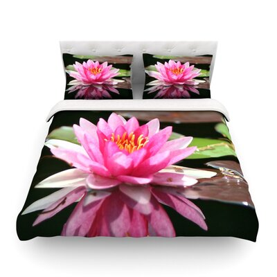 Water Lily by Angie Turner Featherweight Duvet Cover Size: King