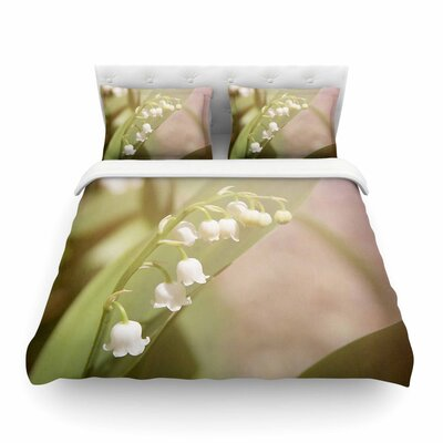 Lily of The Valley by Angie Turner Featherweight Duvet Cover Size: King