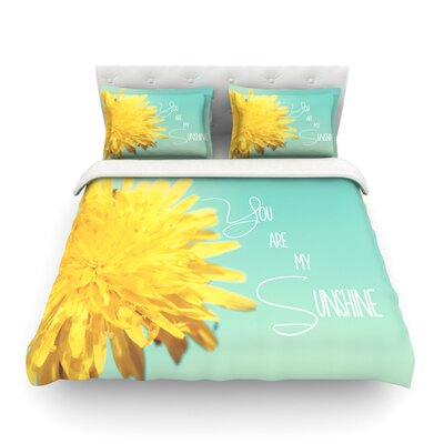 You are My Sunshine Flower Featherweight Duvet Cover Size: Twin