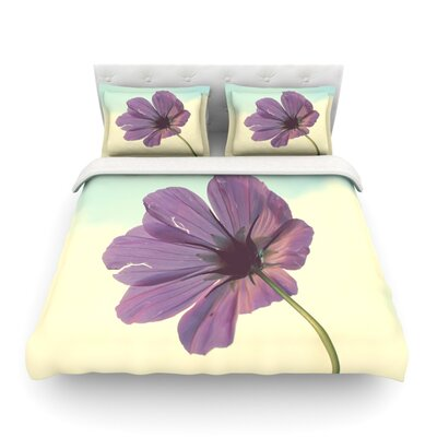 Torn But Never Broken Purple Flower Featherweight Duvet Cover Size: Twin