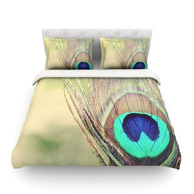 Sun Kissed Peacock Featherweight Duvet Cover Size: King