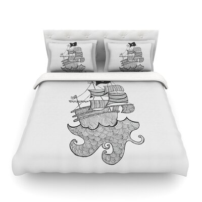 Ships Ahoy by Belinda Gillies Featherweight Duvet Cover Size: King