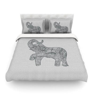 Elephant by Belinda Gillies Featherweight Duvet Cover Size: King