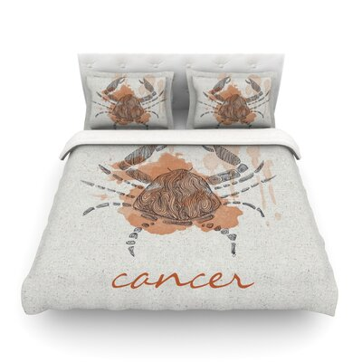 Cancer by Belinda Gillies Featherweight Duvet Cover Size: Twin