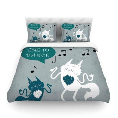 Time to Dance by Anya Volk Featherweight Duvet Cover Size: Full/Queen