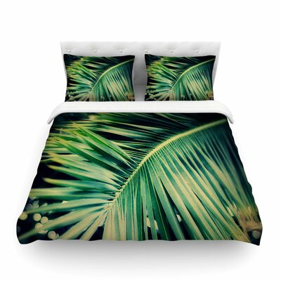 Palm Frond Nature Featherweight Duvet Cover Size: Twin