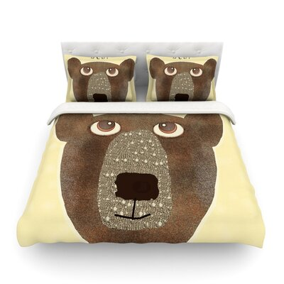 Bear by Bri Buckley Featherweight Duvet Cover Size: Twin
