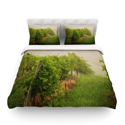 Grape Vines Foggy by Angie Turner Featherweight Duvet Cover Size: King