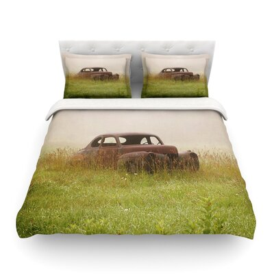 Forgotten Car Grass by Angie Turner Featherweight Duvet Cover Size: Full/Queen