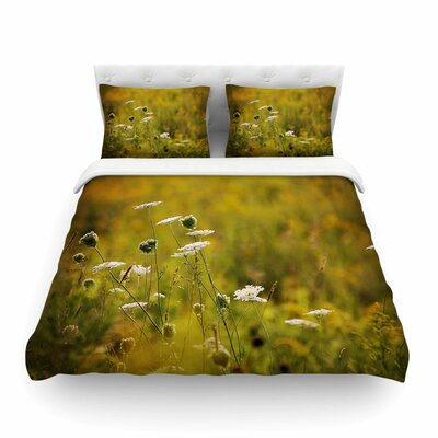 Golden Hour - Digital Nature by Angie Turner Featherweight Duvet Cover Size: Twin