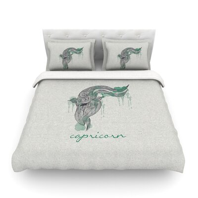 Capricorn by Belinda Gillies Featherweight Duvet Cover Size: Twin
