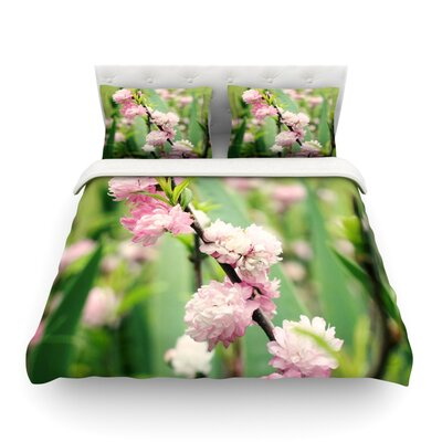 The Best Things in Life are Pink Featherweight Duvet Cover Size: Twin