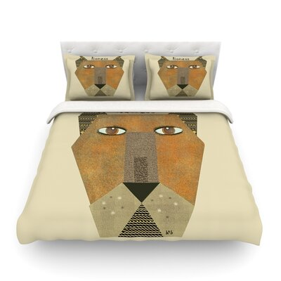 Lioness by Bri Buckley Featherweight Duvet Cover Size: Twin