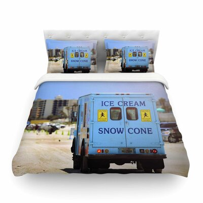 Ice Cream Truck by Angie Turner Featherweight Duvet Cover Size: King