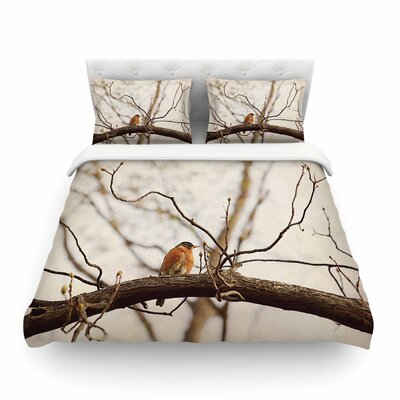 Spring Robin by Angie Turner Featherweight Duvet Cover Size: Twin