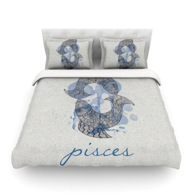 Pisces by Belinda Gillies Featherweight Duvet Cover Size: Full/Queen