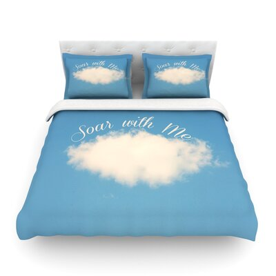 Soar with Me Cloud Featherweight Duvet Cover Size: Twin