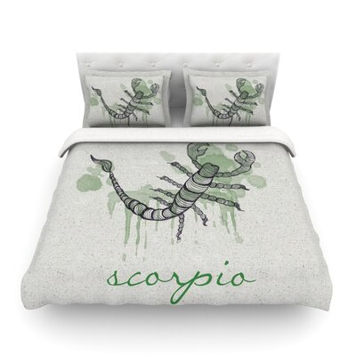 Scorpio by Belinda Gillies Featherweight Duvet Cover Size: Twin