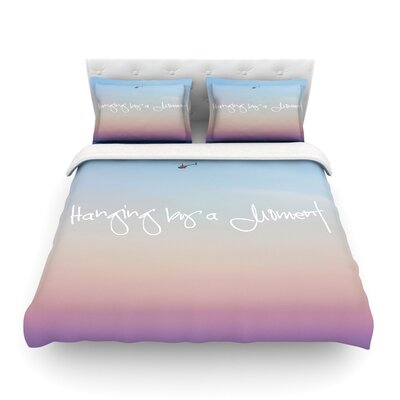 Hanging by a Moment Sky Blue Featherweight Duvet Cover Size: Twin