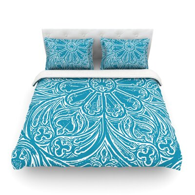 Pitter Pattern by Belinda Gillies Featherweight Duvet Cover Size: King