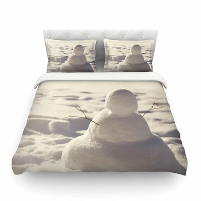 Snowman Nature by Angie Turner Featherweight Duvet Cover Size: King