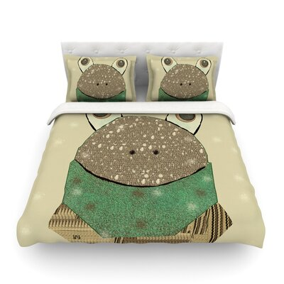 Frog by Bri Buckley Featherweight Duvet Cover Size: King
