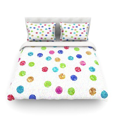 Seeing Dots Featherweight Duvet Cover Size: King