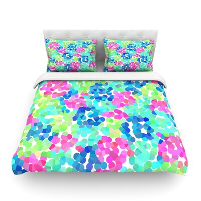 Flower Garden by Beth Engel Featherweight Duvet Cover Size: Twin