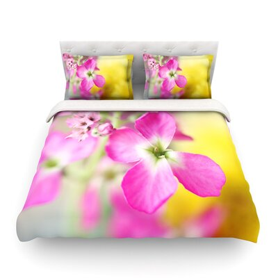 Lucky One Floral Photography by Beth Engel Featherweight Duvet Cover Size: King