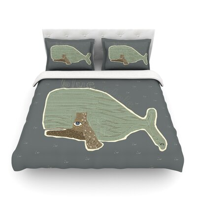 Whale by Bri Buckley Featherweight Duvet Cover Size: King