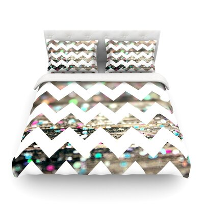After Party Chevron Featherweight Duvet Cover Size: Full/Queen