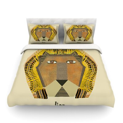 Lion by Bri Buckley Featherweight Duvet Cover Size: King