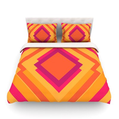Diamond Dayze by Belinda Gillies Featherweight Duvet Cover Size: King