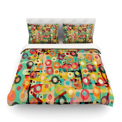 Gift Wrapped Crazy Abstract by Bri Buckley Featherweight Duvet Cover Size: Twin