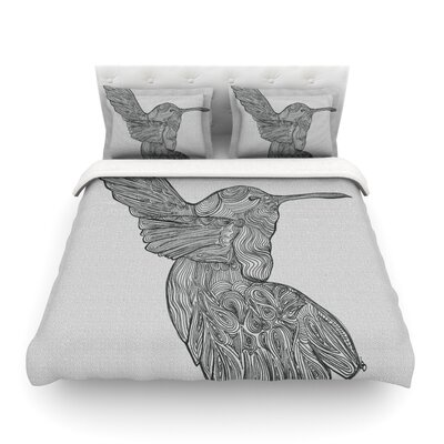 Hummingbird by Belinda Gillies Featherweight Duvet Cover Size: King