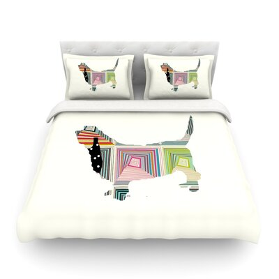 Basset Rainbow Featherweight Duvet Cover Size: Full/Queen