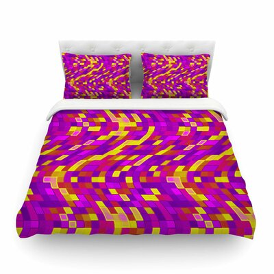 Geometric Movement Tags Featherweight Duvet Cover Size: King