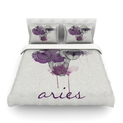 Aries by Belinda Gillies Featherweight Duvet Cover Size: Twin